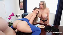 Teaches Sara & Maggie Fuck Bad Student Kimber i...