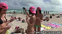 Spring Break Teen Girls Partying!