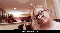 Tiny Blonde Cute & Nerdy Teen Step Daughter Jayden Hayes Play With Step Dad In Front Of Mom Before School Pov