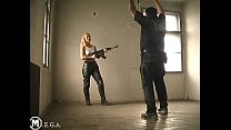 uniform army leatherpants lethal girl ballbusting's Thumb