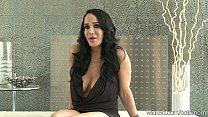 """Big-Tit Nadya """"OCTOMOM"""" Suleman plays with pussy then Interviewed"""