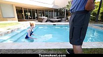 CFNMTeens - Pale Redhead Fucked By The Swimming Coach image