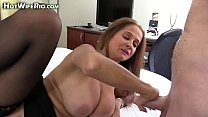 HotWifeRio fucking a big cock and eating cum thumbnail