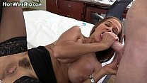 HotWifeRio fucking a big cock and eating cum preview image