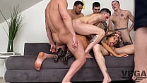 EIGHT HOT GUYS FUCKED HARD AND PISSED OFF MONICA FOX 8