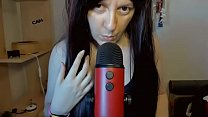 Give me your cock inside your mouth! Games and sounds of saliva and mouth in Asmr with Blue Yeti