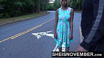 Sheisnovember Ebony Teen Babe Blowjob In Street...