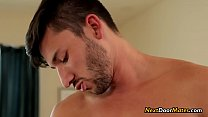 Gay sex massage turns into a hot gay threesome sex