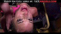 Tattooed fishnet slut hard punishment! (Angel Long , Alexxa Vice , Frank Crass)