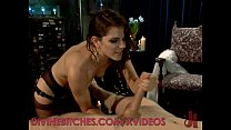 Divine Dominatrix Dominates Her Male Slave thumb