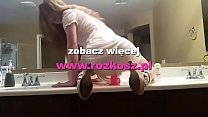 Curly haired girl riding a dildo inside a public restroom - - - - - www.rozkosz.pl - - - - -
