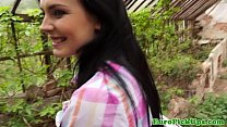 Stunning teen picked up and bent over thumbnail