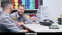 YoungPerps - Security Officer Sucks His Coworkers Thick Cock On The Job