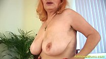 hairy redhead granny alone at home />