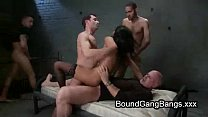 Huge natural boobs babe gangbang fucked pornhub video