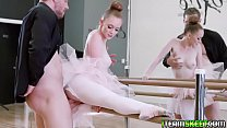 Horny ballerina gets the dick inside her ramming from behind!