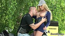 ROCKER MILF  FUCK OUTDOOR WITH STRANGER AFTER PARTY AT BIKE