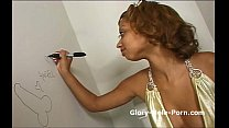 Mix girl with piercing plays with her pussy then blows dick through gloryhole - 9Club.Top