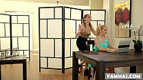 Wet and kinky surprise at work! - Aaliyah Love, Cadence Lux's Thumb
