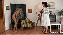 cock his on jumps lady mature Hot
