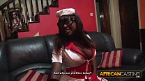 Busty black nurse has AMAZING BOOTY!