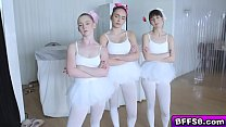 The Balet Instructor And The Ballerinas