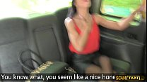 Lucky Taxi Driver Bangs His Slutty Girlfriend On His Taxi