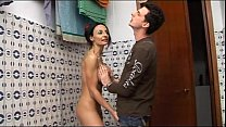 Horny geek boy spies her naked mom in the shower Thumbnail
