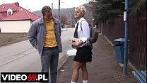 Polish porn - 18-year-old schoolgirl in mini skirt fucked by seducer