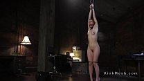Blonde learning bdsm lesson with electricity thumbnail