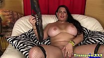 Curvy transsexual playing with her dick />                             <span class=