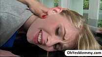 Stepmom Tanya gets a hot threesome fuck with Allie and her bf thumbnail