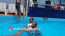beauty having fun with ogaban in the pool