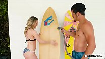 Aubrey Sinclair fucks her stepbrother in the sh...