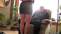Beautiful wife blindfolded and shared by her hu...