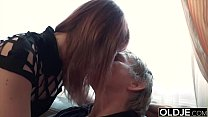 11030 Horny young wife gives old husband a blowjob and gets pussy fuck preview