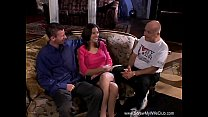 Crazy Threesome For Horny Swinger Wife thumbnail