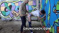BRANDON fucked barebac by daddy xxl cock and breeded