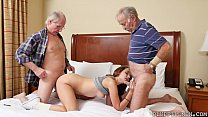 Young Girl double teamed by Old Dicks Thumbnail
