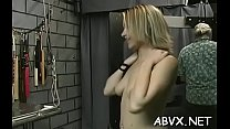 Wicked spanking and sex in amateur bondage video Preview