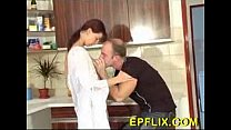 Nice Hairy Housewife Pussy Nice Fuck In The Kitchen...