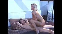 Hot blonde rides hard cock with her tight asshole