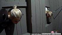 Tied Girls Waiting on Your Cock in Glory Holes preview image