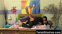 Gay clip of When bored teenager lads get together, they play spin the