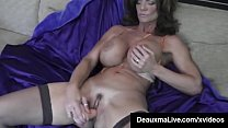Hot Blooded Cougar Deauxma Dildo Fucks Her Puss...