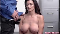 Hot Brunette Cought Redhanded