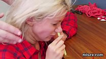 Wacky chick is taken in butthole madhouse for p...