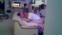 Cuckold Hot Wife Pussy Creampie from Hubby's Friend's Thumb