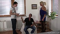 9414 Young guy invited for cuckold session preview