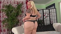 Sexy blonde fat ass uses sex toys